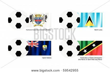 Saint Barthelemy, Saint Lucia, Saint Helena And Saint Kitts Flag