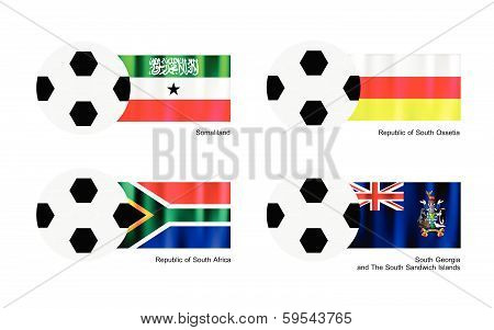 Football With Somaliland, South Ossetia, South Africa And South Georgia