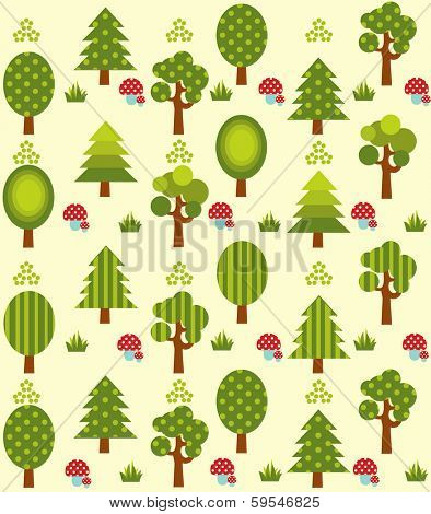 Cute tree pattern
