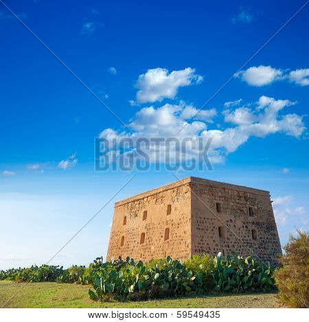 Tabarca island tower Torre de San Jose was a prision and castle in Alicante Spain