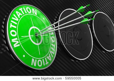 Motivation Concept on Green Target.