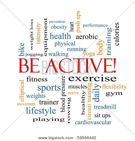 Be Active! Word Cloud Concept