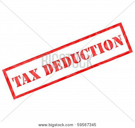 Red Tax Deduction Weathered Stamp