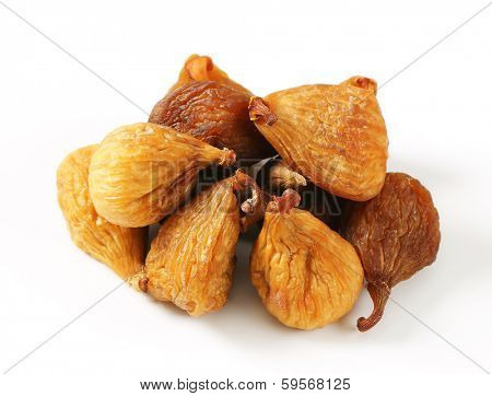 heap of naturally dried figs