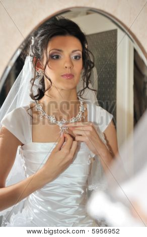 The Bride Before A Mirror