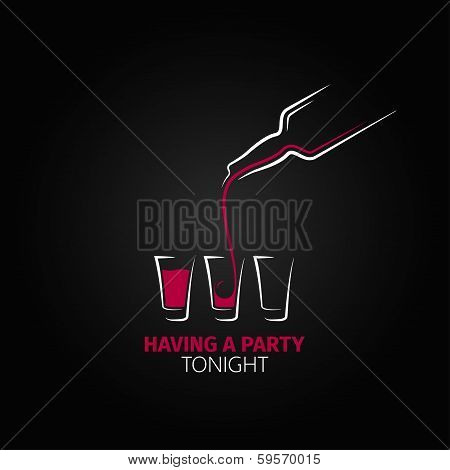 cocktail shot glass bottle design background