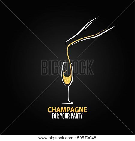 champagne glass bottle design background