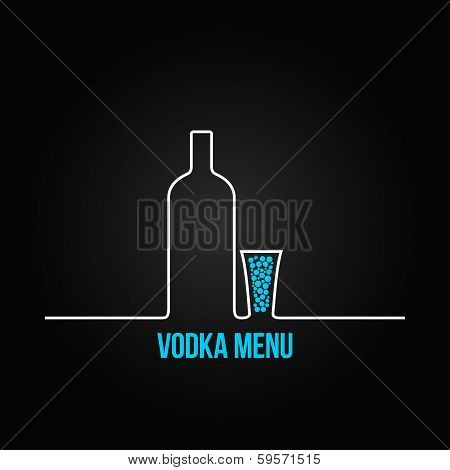 vodka bottle glass deign menu background