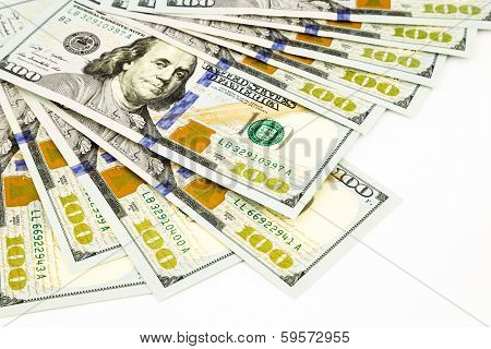 New Edition 100 Dollar Banknotes, Money And Currency Concept