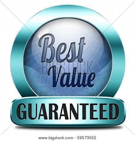 best value for the money web shop icon or online blue promotion button, sticker or sign for internet webshop best offer at lowest price