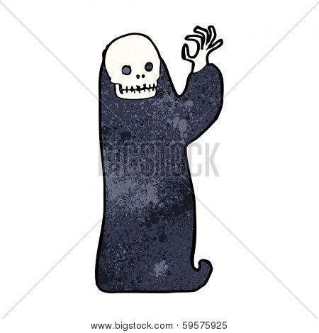 cartoon waving halloween ghoul