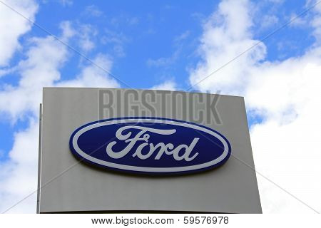 Sign Ford Against Sky