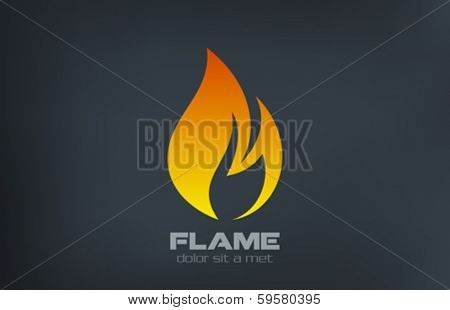 Fire flame vector logo creative design template.