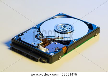 Open hdd device close up