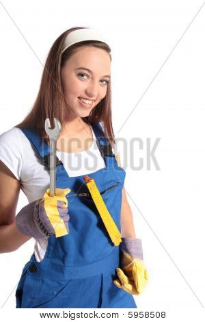 Attractive craftswoman