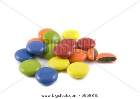 Pile Of Colored Chocolates