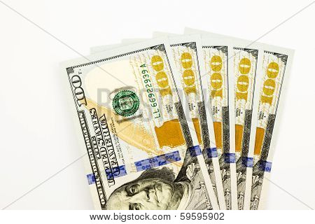 New Edition 100 Dollar Banknotes, Money For Salary And Income Concept