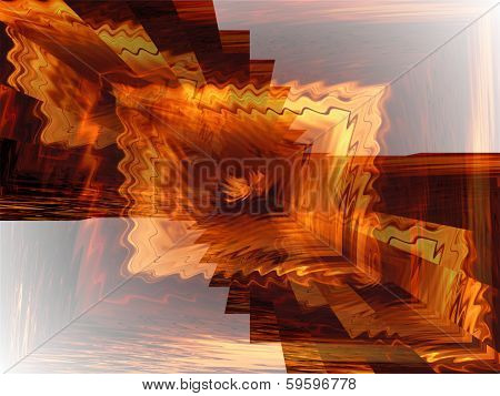 Orange Glowing Abstract Background