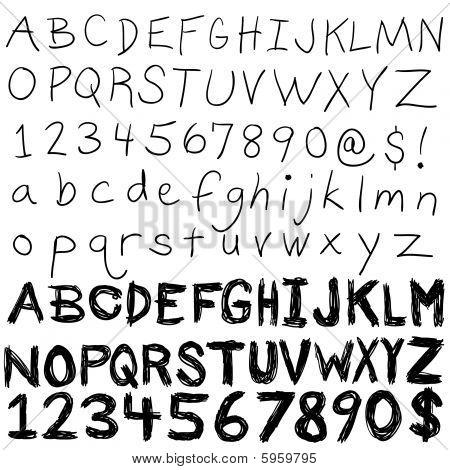 Handwritten Alphabet Collection