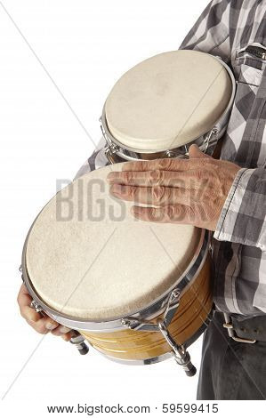 Man Playing Bongo Under The Arm