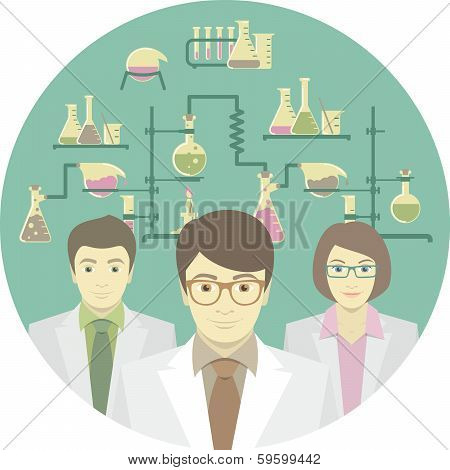 Scientists in the Chemical Laboratory