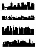 stock photo of city silhouette  - a collection of some different city view - JPG