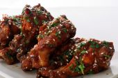 picture of chicken wings  - asian bbq chicken wings isolated on white - JPG