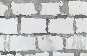 stock photo of aeration  - White wall made of aerated concrete blocks background texture - JPG