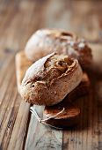 foto of bread rolls  - Wholemeal Bread Rolls - JPG