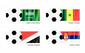 pic of saudi arabia  - An Illustration of Soccer Balls or Footballs with Flags of Saudi Arabia Senegal Principality of Sealand and Serbia on Isolated on A White Background - JPG