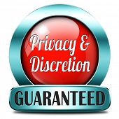 private and personal information red icon, banner for privacy protection and discretion of restricte