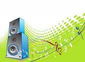 stock photo of lien  - 3d speaker on retro - JPG