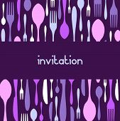 stock photo of dinner invitation  - Food - JPG