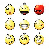 picture of smiley face  - Set of impish - JPG
