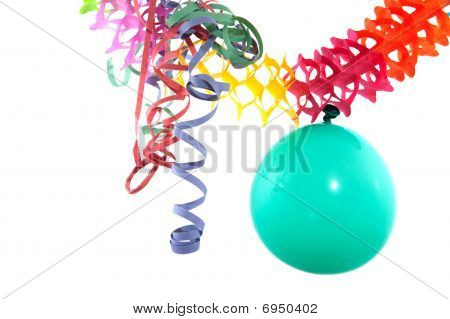 Balloon With Party Streamers