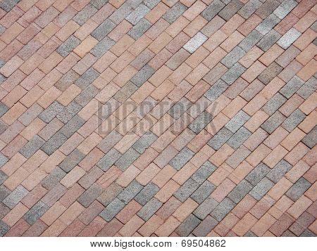 Multi Hue Brick Pattern For Background