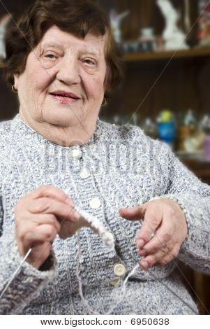 Grandma Knitting