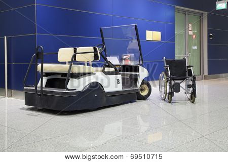 Wheelchair And Buggy In Airport