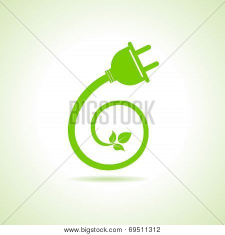Eco electric plug icon stock vector