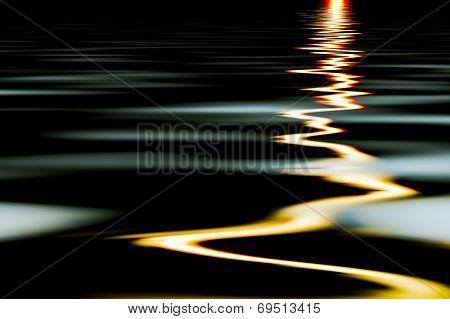 Streaks Of Light In The Water