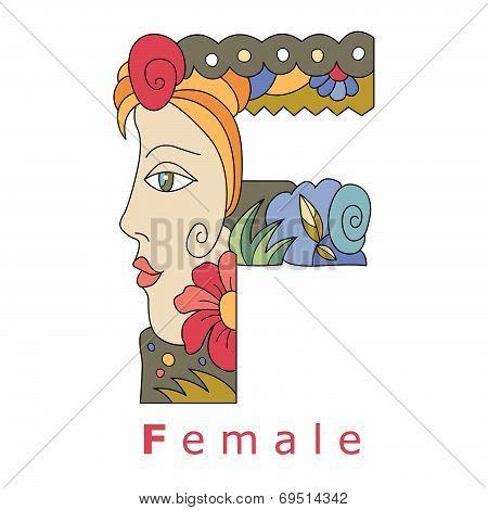 F-female