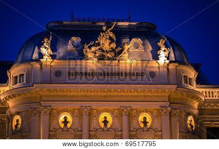 Building Of Slovak National Thetre, Bratislava - Slovakia