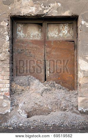 Old Cluttered Door