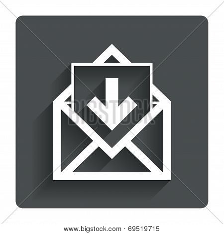 Mail icon. Envelope symbol. Inbox message sign.