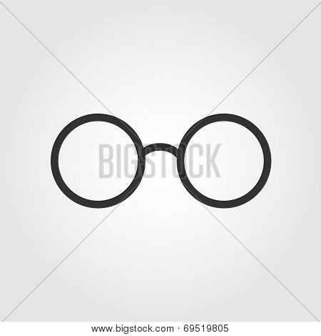 glasses icon, flat design