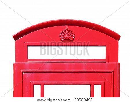 British Phone Box, Red And White, Detail