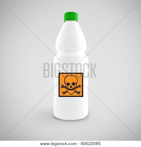 Bottle Of Chemical Liquid With Hazard Symbol