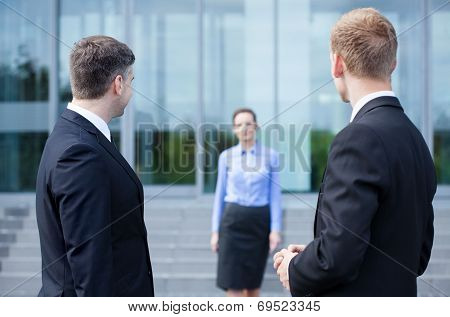 Business Co-workers Taking Break From Work