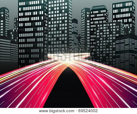 Traffic  Of Night City