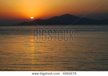 Sunset on lake Sevan, Armenia